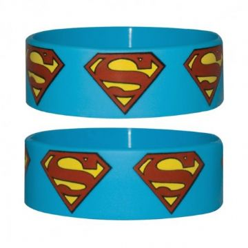 Superman Logo Wristband. Officially Licensed. NEW in Packaging. Kyrpton, Kent